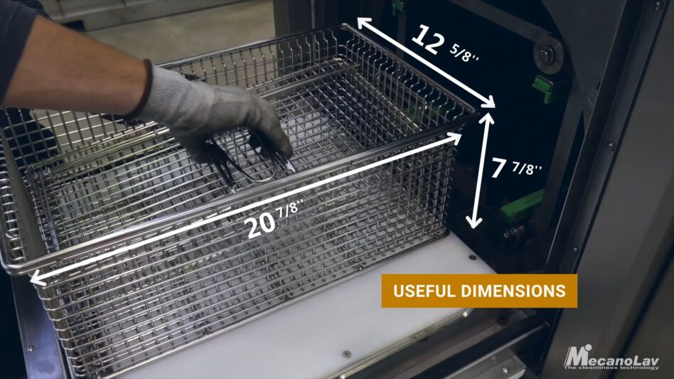 Basket dimensions of compact drum parts washer