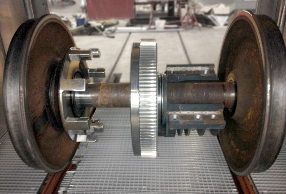 Axle after cleaning in degreasing machine