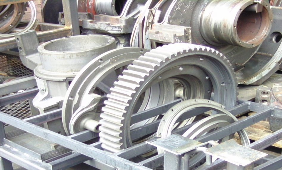 Railway parts cleaning - thermal engine blocks and transmissions