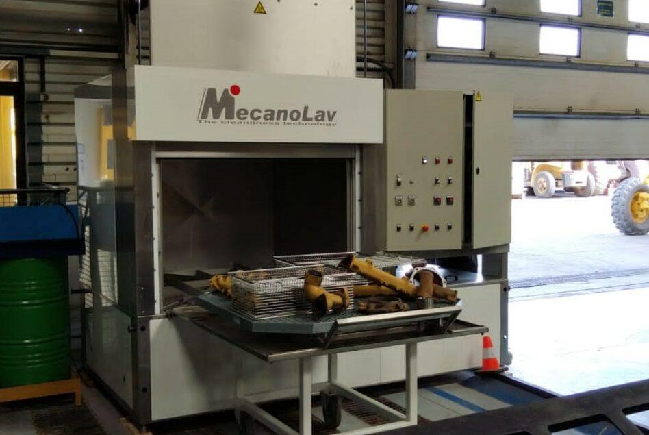 Maintenance parts degreasing machine