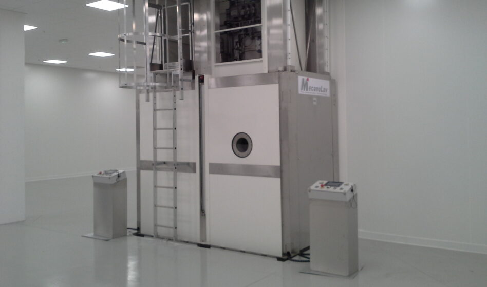 Multi-tank turntable parts washer in a clean room