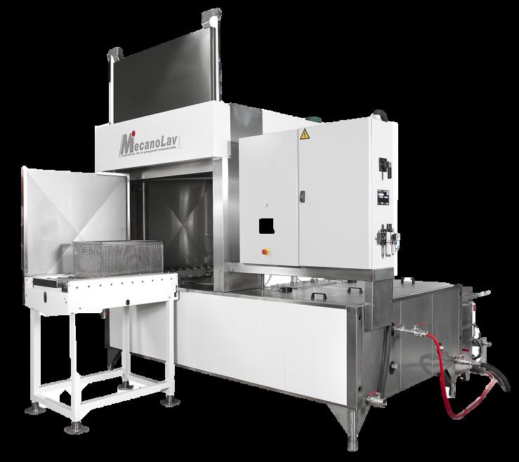Machine de nettoyage pièces multibains à plateau rotatif
