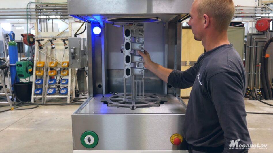 One-piece flow parts washer