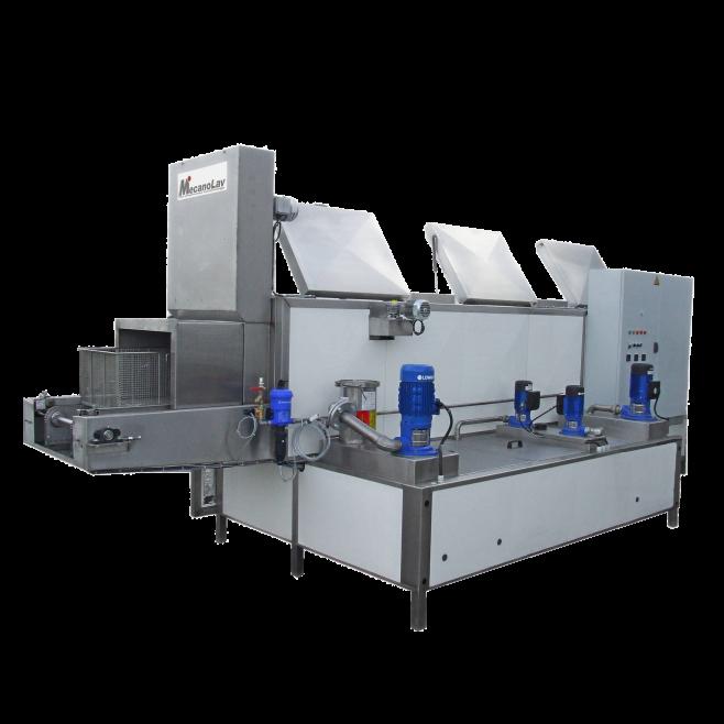 Machine de nettoyage pièces multi-modules avec convoyage
