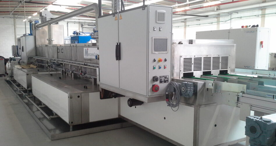 Linear multistage parts washer tailored application