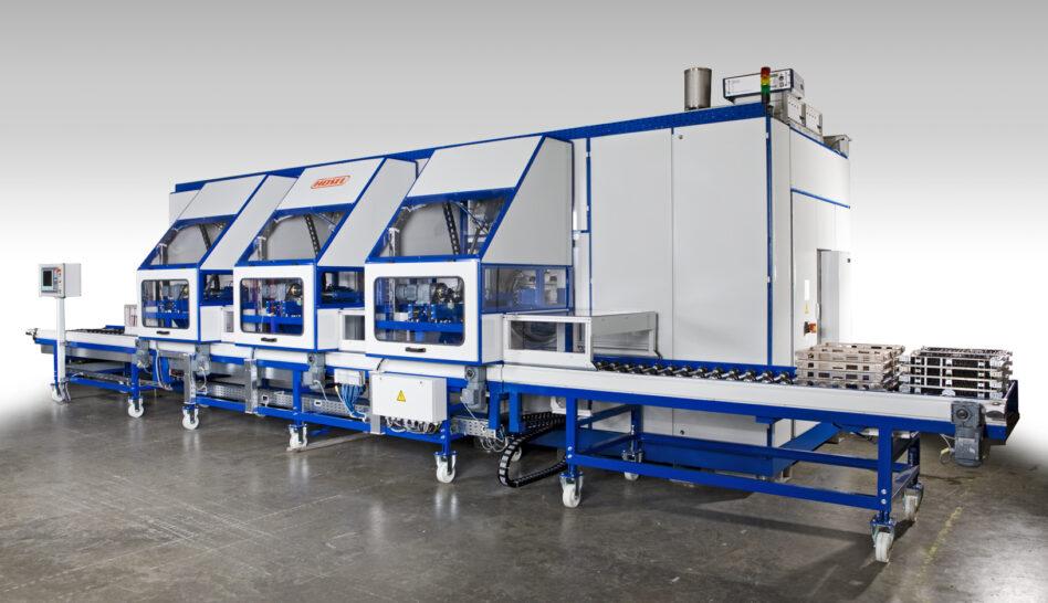 Degreasing machine loading