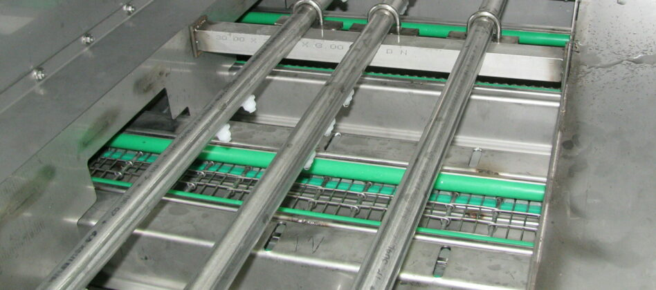 Linear multistage parts washer's details