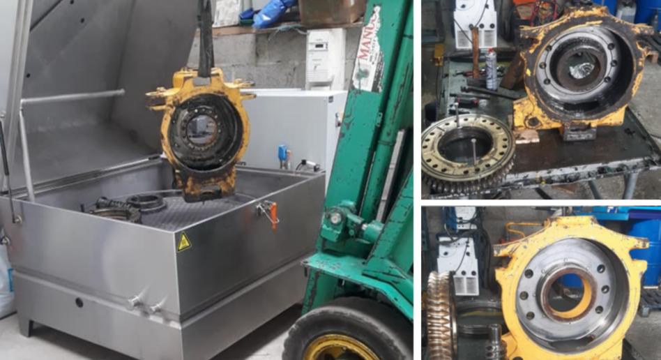 Mechanical parts degreasing machine