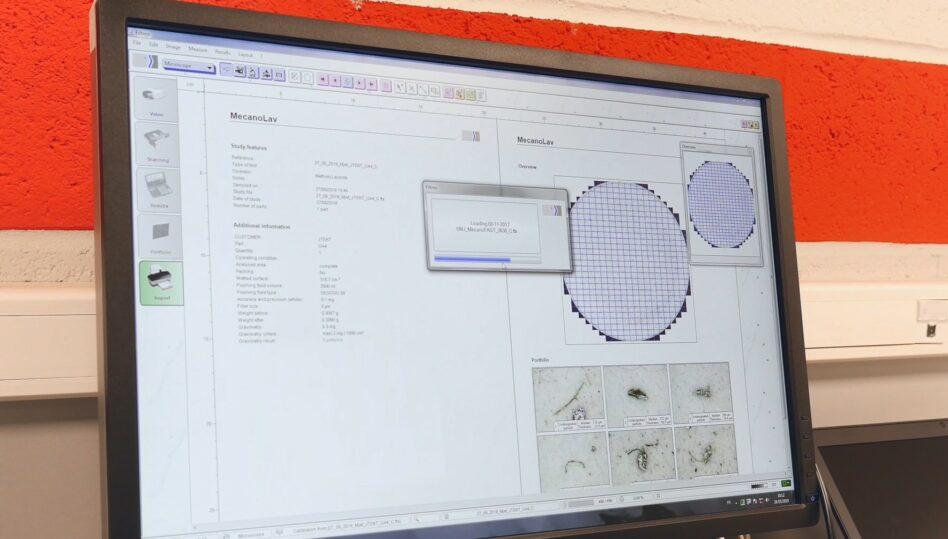 Mecanolav's parts washers analysis laboratory