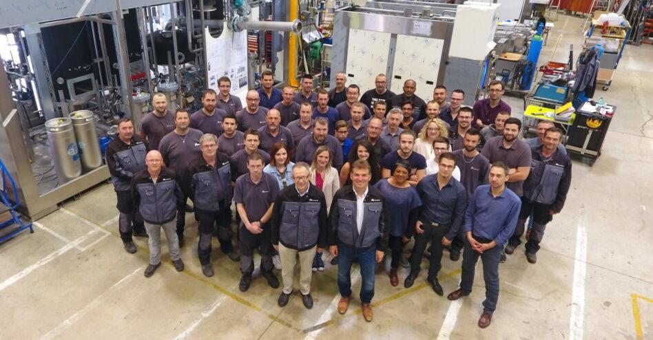 Parts washers manufacturer Mecanolav's team