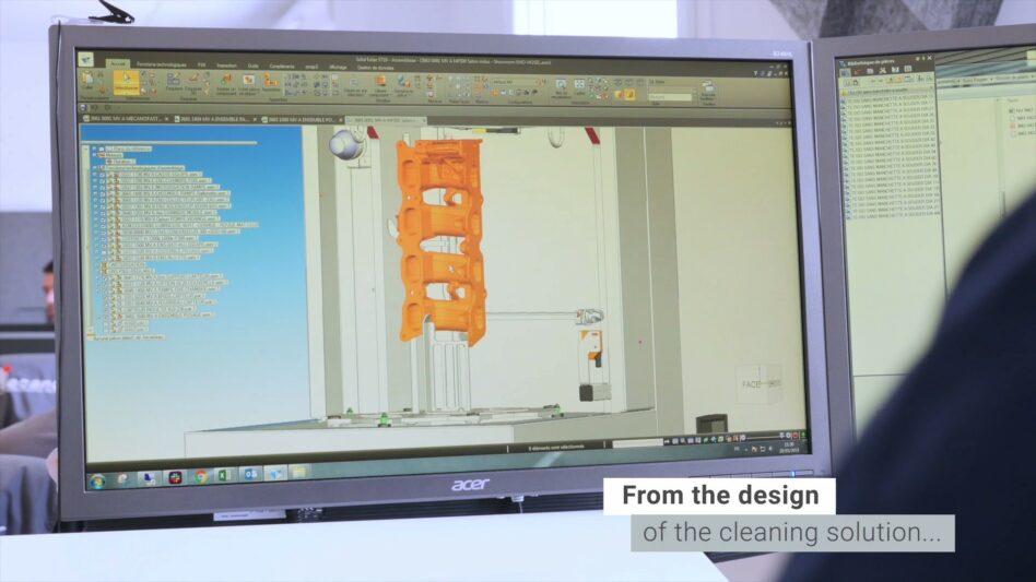 Mecanolav parts washers' integrated design department